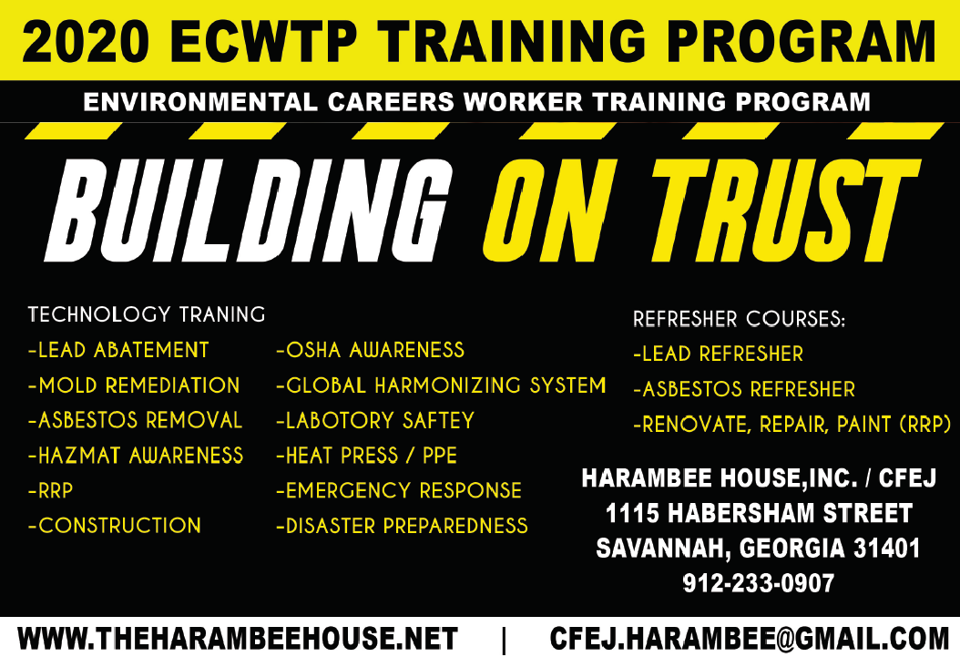Environmental Careers Worker Training Program (ECWTP) 2020