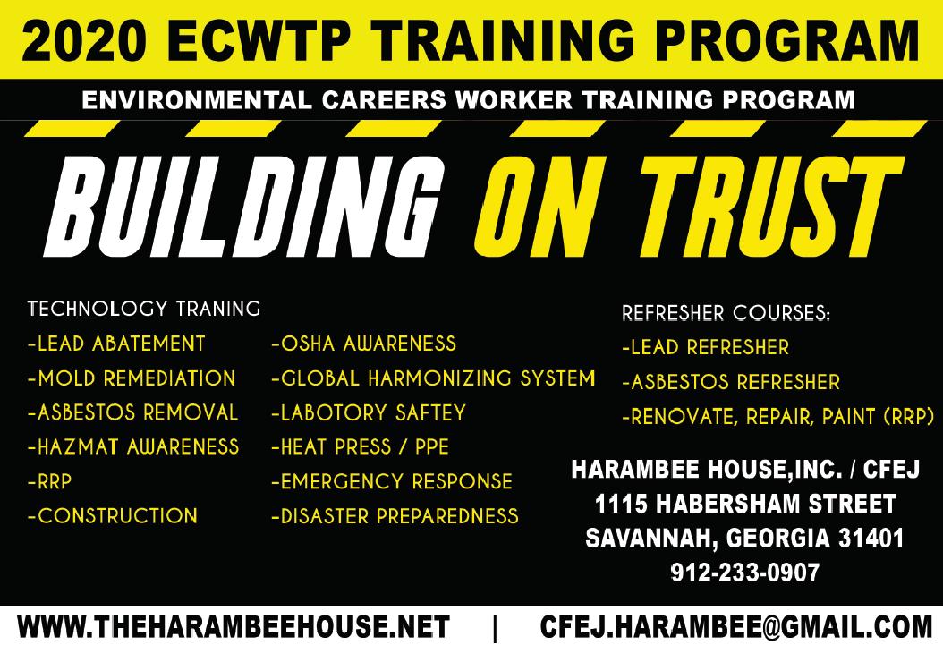 Environmental Careers Worker Training Program (ECWTP) 2020