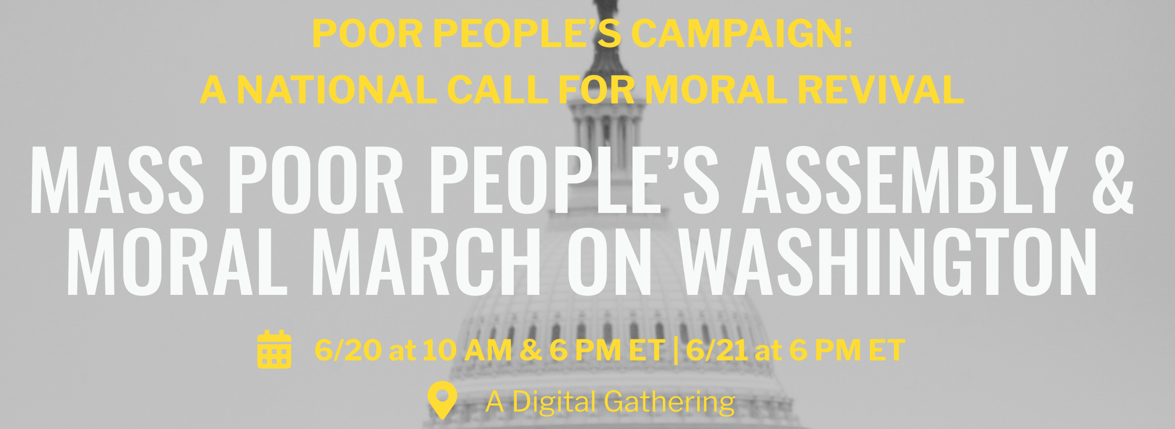 Mass Poor People's Assembly & Moral March on Washington